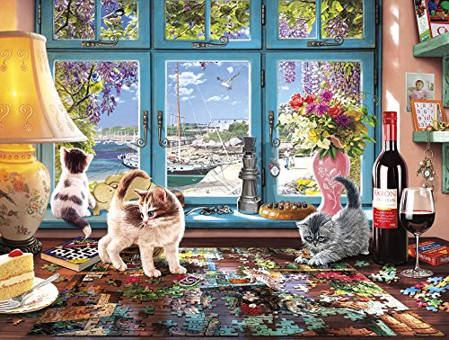 Buffalo Games   Cats Collection   Puzzlers Desk   750 Piece Jigsaw Puzzle