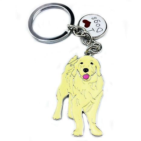 Llavero con forma de perrito adorable Zoonpark®, metal ...