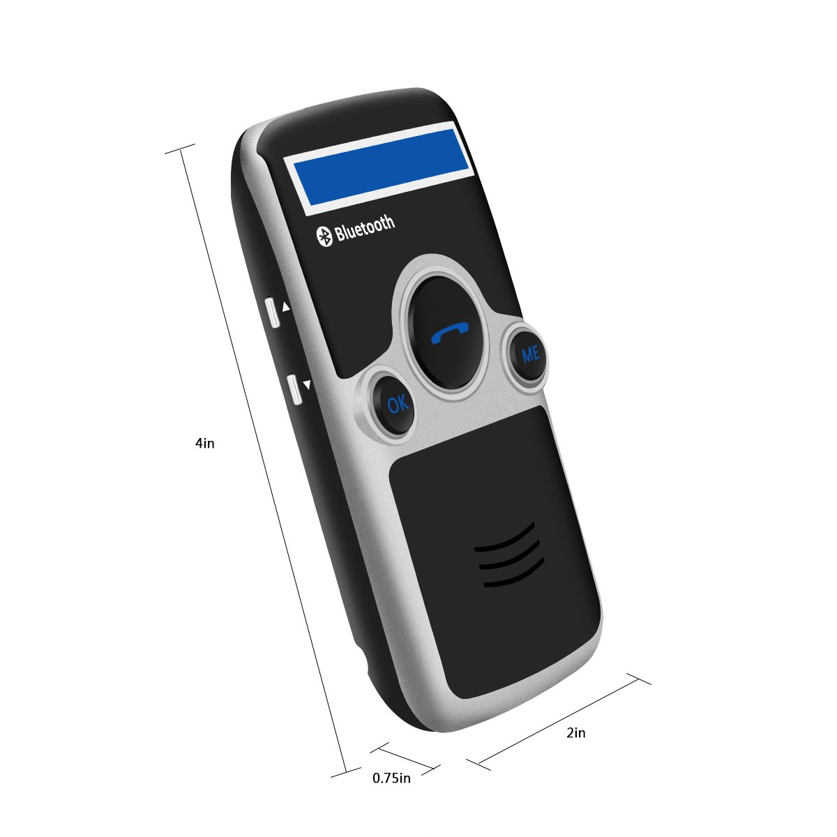 YOUCHUANGMEI A6 Solar power Bluetooth hands free car kit FM Stereo Transmitter