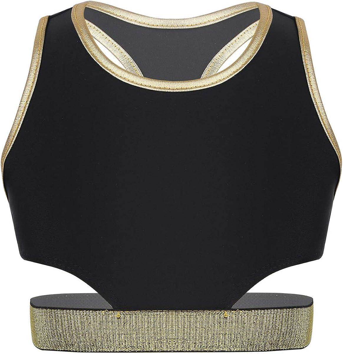 iiniim Kids Girls Stretchy Racer Back Sports Bra Gymnatics Tanks Crop Tops Yoga Gym Fitness Athletic Dance wear