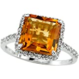 Genuine Citrine Ring by Effy Collection 14kt Gold