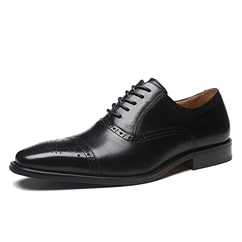 3b839f757fb3 La Milano Mens Leather Cap Toe Lace up Oxford Classic Modern Business Dress  Shoes for Men