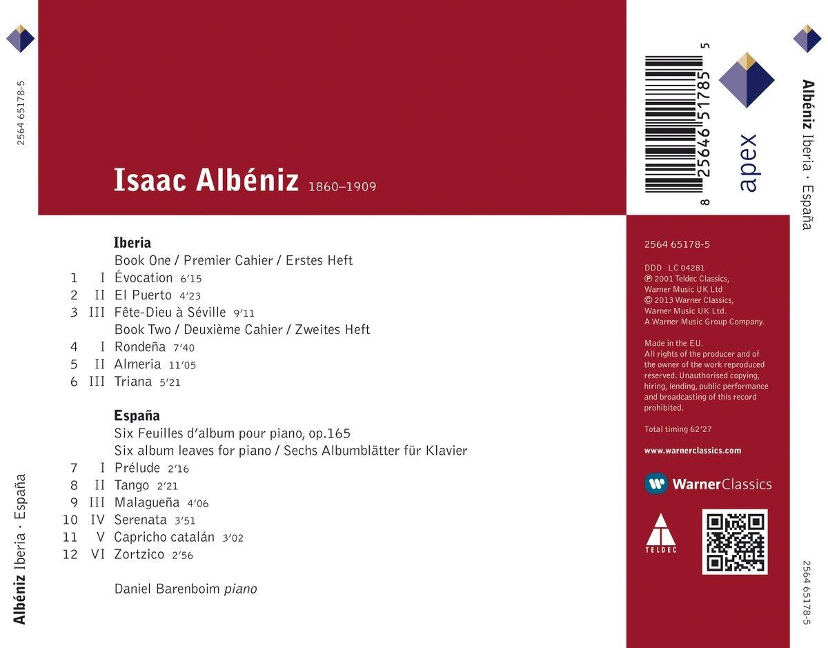 Amazon.com: Iberia Books 1 & 2 / Espana: Music