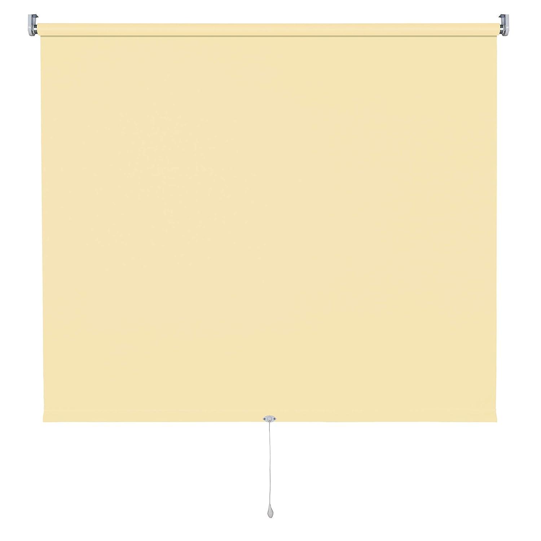 Verdunkelungsrollo Springrollo Mittelzugrollo 13 Farben klemmfix Rollo ohne Bohren Breite 62-202 cm Höhe 180 cm Fenster Vorhang blickdicht verdunkelnd klemmbar Klemmträger (132 x 180 cm   Dunkelgrau) B078WQZXSY Seitenzug- & Springrollos