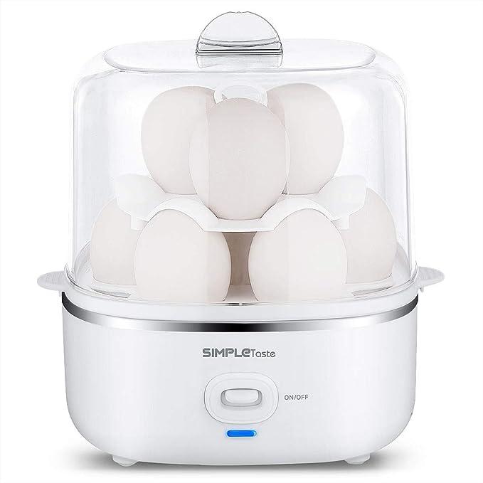 SIMPLETASTE Cocedor de Huevos Eléctrico para Huevos Duros o ...
