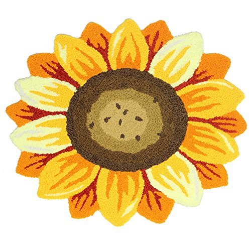 TideTex Fashion Cartoon Sunflower Mats Bedroom Bedside Ru...