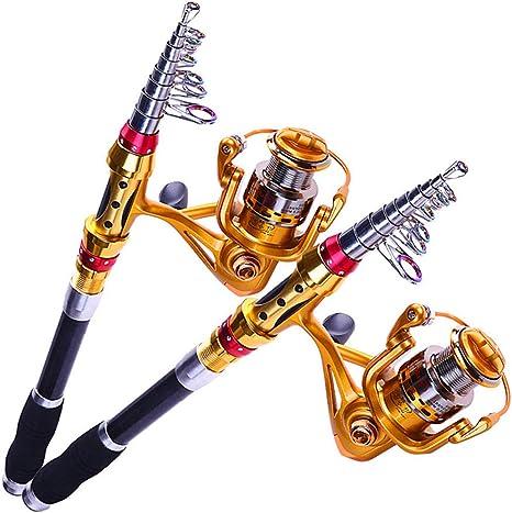 99% Carbono caña Pescar telescópica 13 + 1BB Spinning Fishing Reel ...