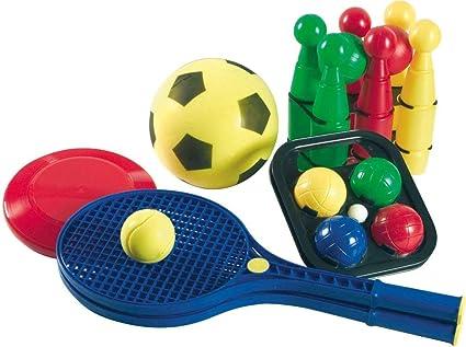 TOYLAND Juego de Deportes 5 en 1 con Bolsa de Transporte ...