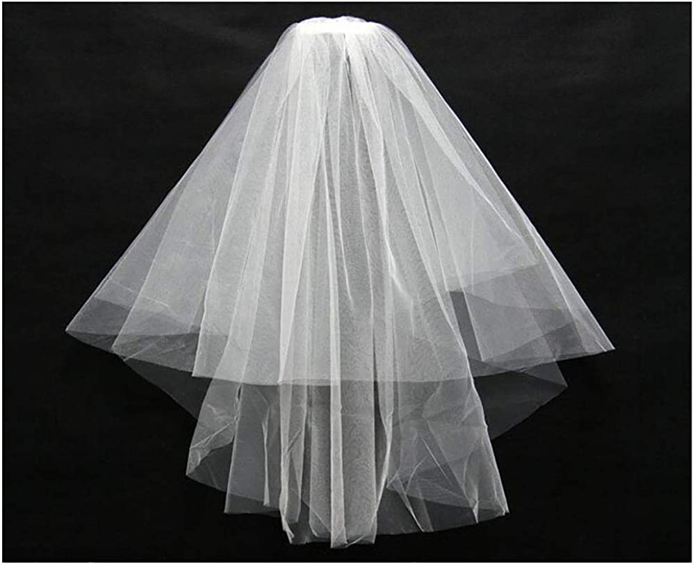 HappyERA 2 Tiers Wedding Veil Bridal Tulle Veil with Comb