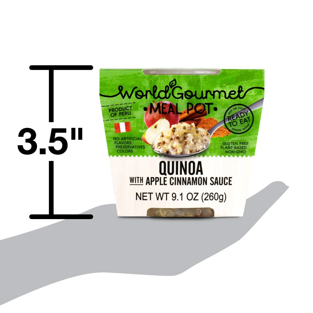 Quinoa Ready To Eat Meal By World Gourmet | Complete Plant-Based Protein Perfect for Breakfast, Lunch or Dinner Packed With A Delicious Apple Cinnamon Sauce (Pack of 6) by World Gourmet (Image #6)