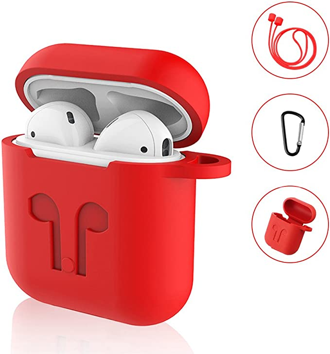 98 opinioni per SYNERKY Custodia AirPods Apple,Silicone Case Skin Case with Sport Strap with