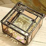 J Devlin Box 384 Stained Glass Jewelry Keepsake Box Angel Charm
