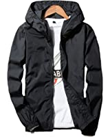 Hzcx Fashion men's classic soild color thin light weight flight bomber jacket