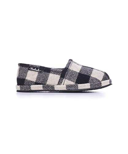 Woolrich Mens Chatham Chill Slippers White  Black Buffalo Black