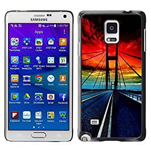 Pulsar Snap-on Series Teléfono Carcasa Funda Case Caso para Samsung Galaxy Note 4 , Puente Golden Gate Sunset vibrante""