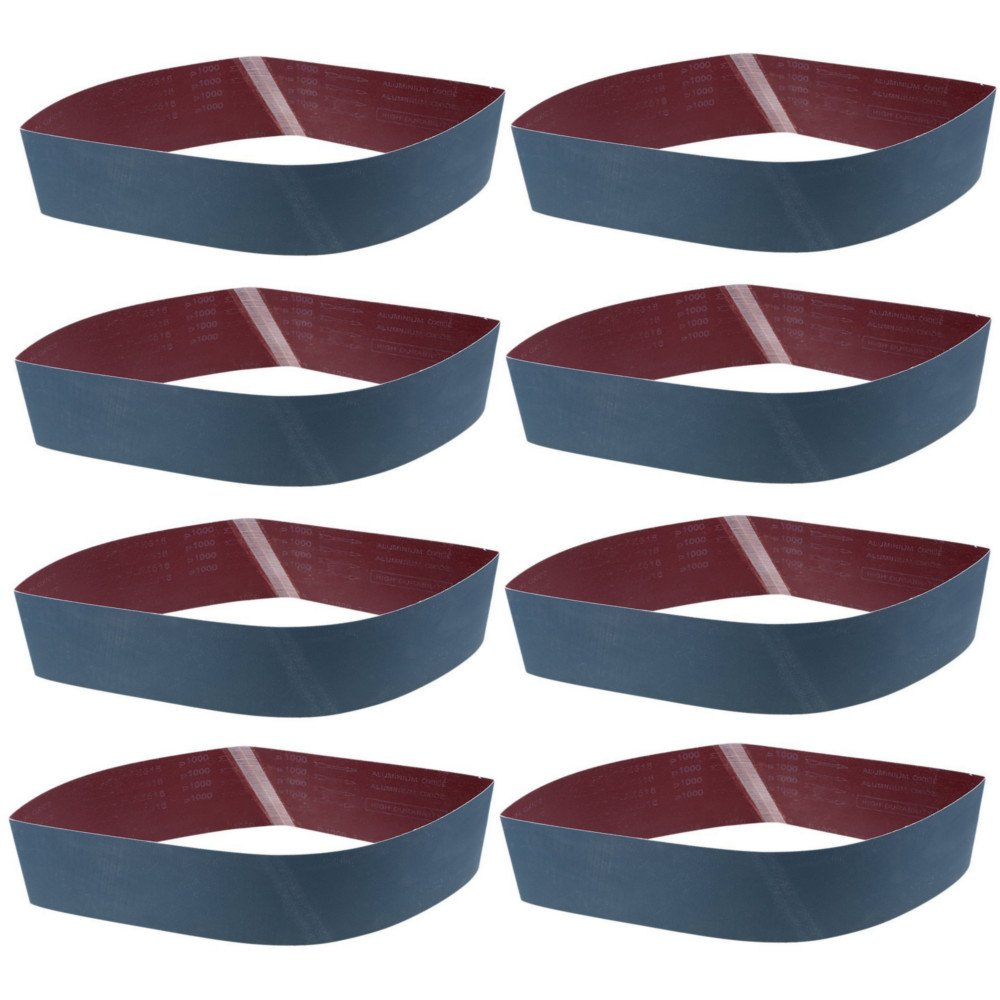 WCIC 8 unidades Lijadora Lijado Cinturones Metal Pulido de Molienda de ó xido de Aluminio Azul Rectificado P1000 Grit 100mmX915mm