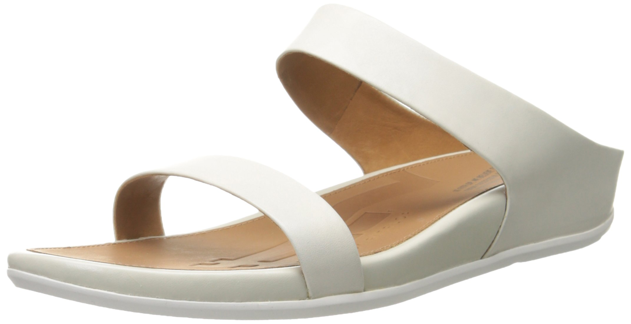 FitFlop Women's Banda Slide Dress Sandal, Urban White, 8 M US