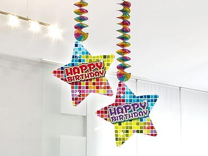 2 x Techos Decoración * Happy Birthday * para cumpleaños ...