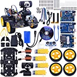 Kuman SM3 Wi-Fi Robot Car Kit for Arduino, 4 Wheel Utility Vehicle wifi Intelligent Robotics arduino DS robot HD camera wireless Robot Smart Car kit 7.4V (arduino smart robot car kit 4 wheels)