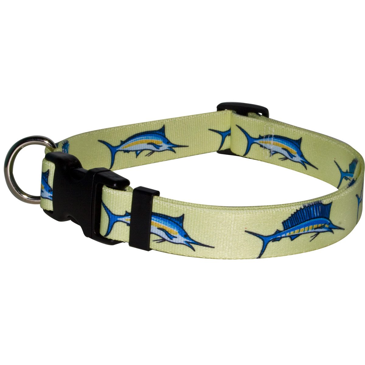 Yellow Dog Design Bill Fish Dog Collar Fits Neck 14 to 20''/4'' Wide, Medium 3/4'' Wide
