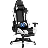 Deals on Costway Massage Gaming Chair Recliner Gamer Racing Chair