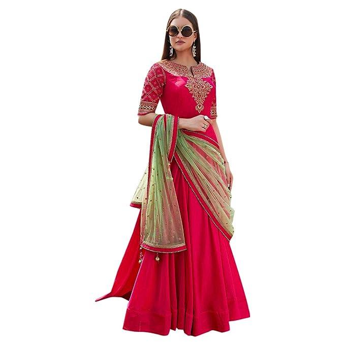 Amazon.com: Anarkali Salwar Kameez - Traje de mujer con ...