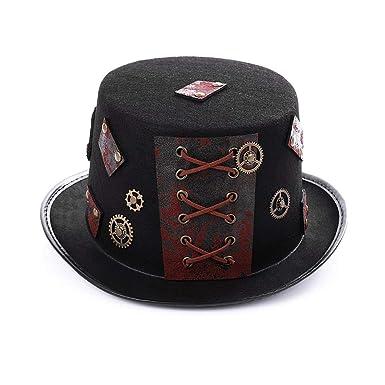 Vestido De Traje De Steampunk del Sombrero De Copa De Bronce De ...