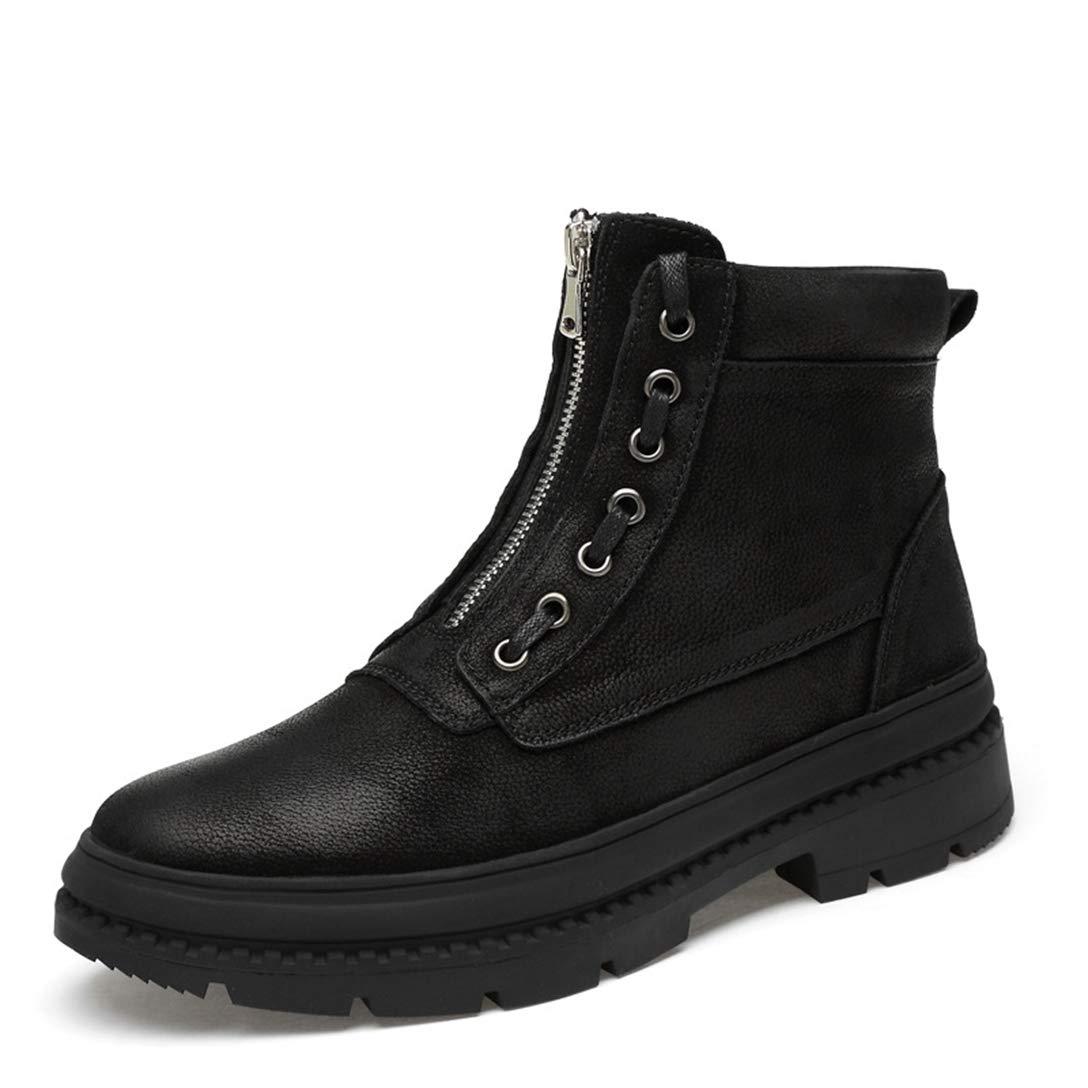 bd87faa40ed36 Amazon.com: XINBONG Men's Martin Boot Zipper Business Casual Black ...