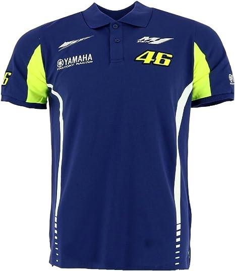 Valentino Rossi VR46 Moto GP M1 Yamaha Factory Racing Polo Camisa ...
