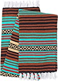 El Paso Designs Peyote Hippie Blanket Classic Mexican Style Falsa Stripe Pattern in Vivid Peyote Colors. Throw, Bed, Tapestry, or Yoga Blanket. Hand Woven Acrylic, 57″ x 74″ (Peyote 11) Review