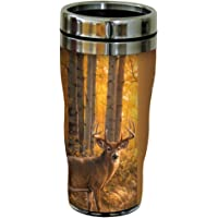 Tree-Free Greetings 25915 Greg Alexander White Tailed Deer Sip 'N Go Stainless Lined Travel Mug, 16-Ounce