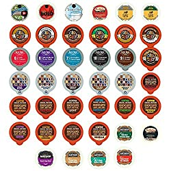 Coffee Recyclable Single Serve Cups For Keurig K Cup Pod Brewers Variety Pack Sampler, 40 Count by Perfect Samplers