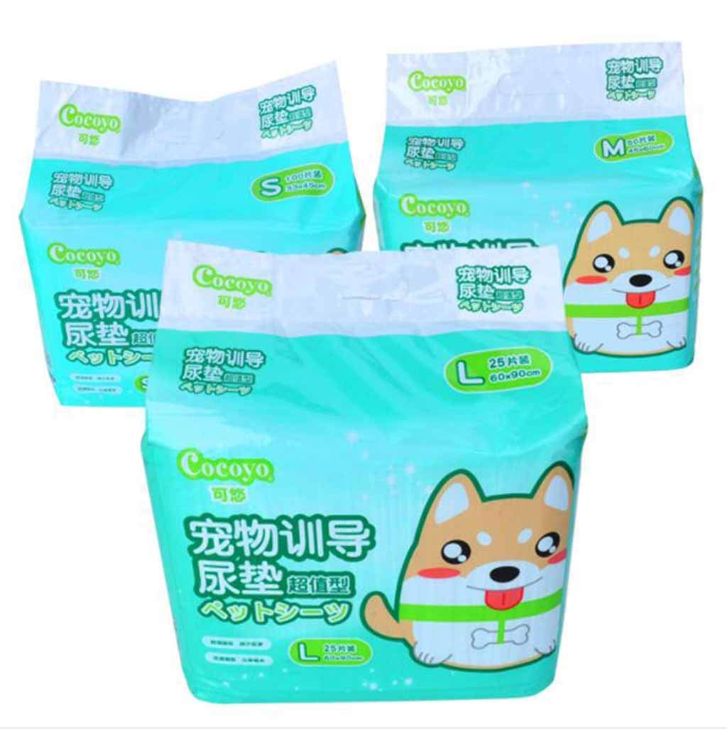M QRFDIAN Pet insulation pad COCOYO thick disposable absorbent deodorant diaper dog urine diaper dog diapers (Size   M)