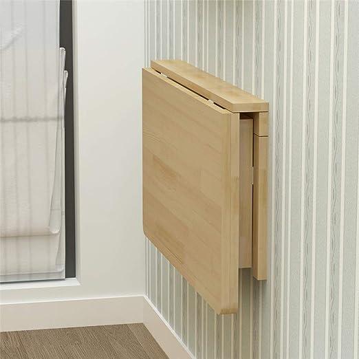 Mesa para portátil Mesa plegable de madera maciza Mesa de comedor ...