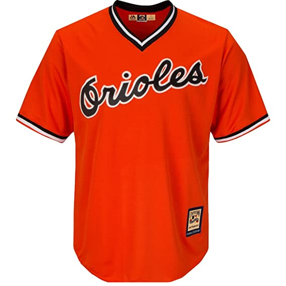 20367057fdd Amazon.com   Cal Ripken Jr. Baltimore Orioles  8 MLB Men s Cool Base  Cooperstown Pullover Jersey   Sports   Outdoors