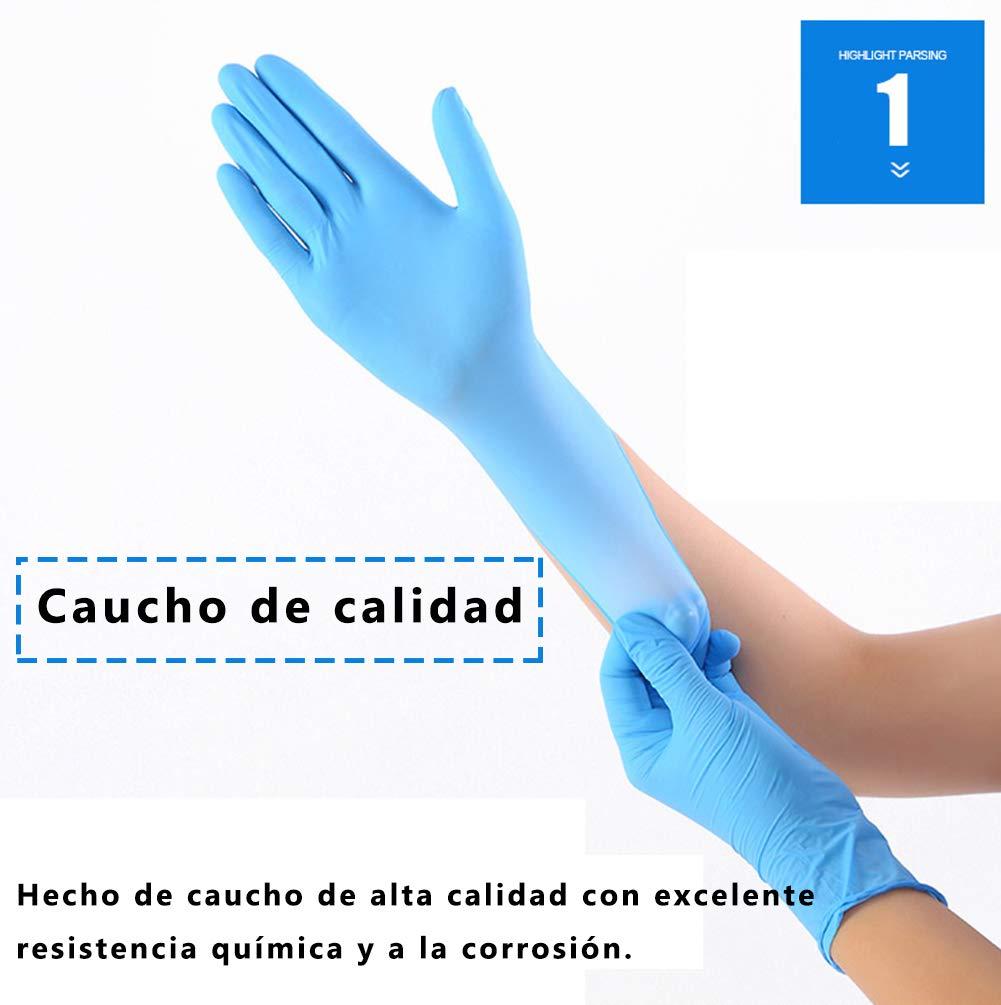 Large Caja 100 Unidades L, Azul Medium Guantes Desechable Nitrilo sin polvo en Small