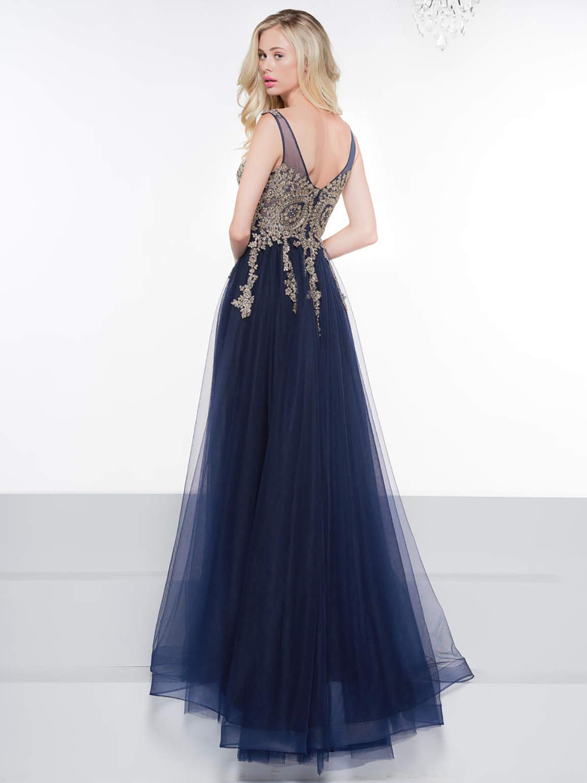 A Line V Neck Appliqued Long Plus Size Evening Dresses for Women Christmas  Party Gown Empire Waist Split Side Prom Dresses 2019 Womens Skirts MSH054  ...