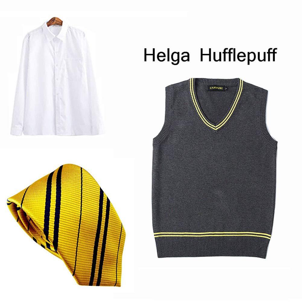 LISI Adultos Hombre Disfraz Cosplay, Hufflepuff Uniforme Sin ...