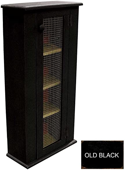 Attractive Tall Jelly Cabinet (Old Black)