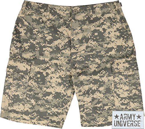 Acu Digital Camo Short (Army Universe ACU Digital Camouflage Military BDU Cargo Shorts with Pin Size XXX-Large (Waist 47-51