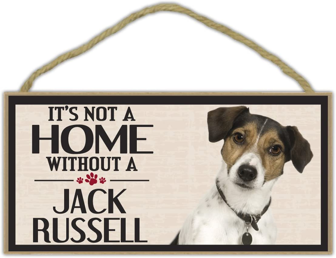 Crazy Sticker Guy Wood Sign: It's Not A Home Without A Jack Russell (Terrier) | Dogs, Gifts