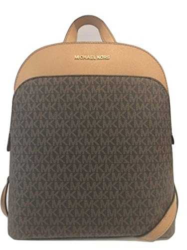30141211f44e Amazon.com: MICHAEL Michael Kors Emmy Large Leather Signature Backpack-  Brown: Shoes