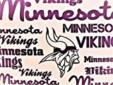 Minnesota Vikings 100% Polyester (FLAT SHEET ONLY) Size TWIN Boys Girls Kids Bedding