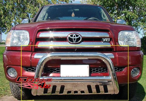 APS BB-TAK025S Chrome Bull Bar Bolt Over for select Toyota Tundra - Fender Bb