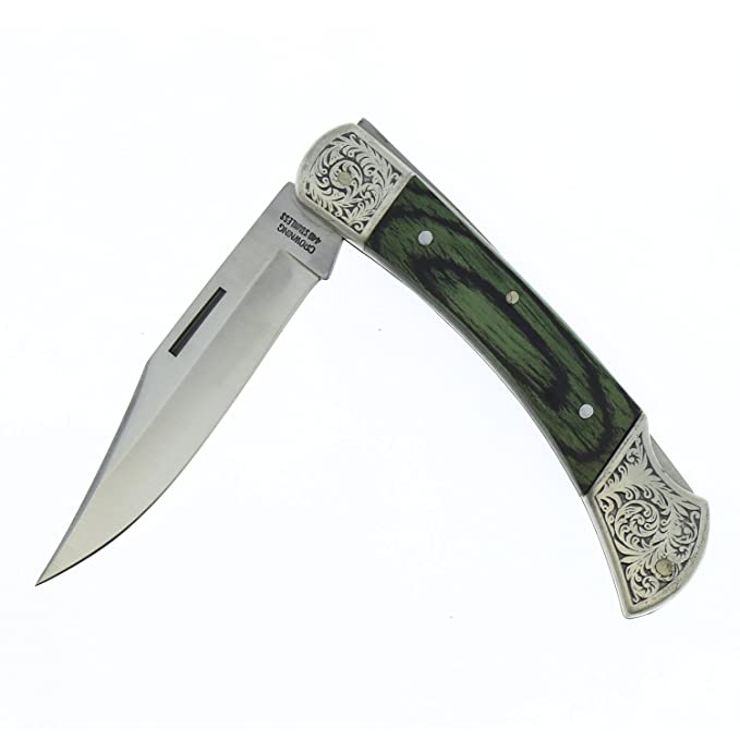 Amazon.com: Decorada Penknife Crowning 3822-v con verde ...