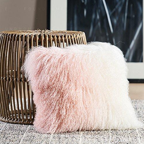 unite down Deluxe Home Decorative Rectangular Soft Plush 100% Real Mongolian (Tibetan) Lamb Wool...
