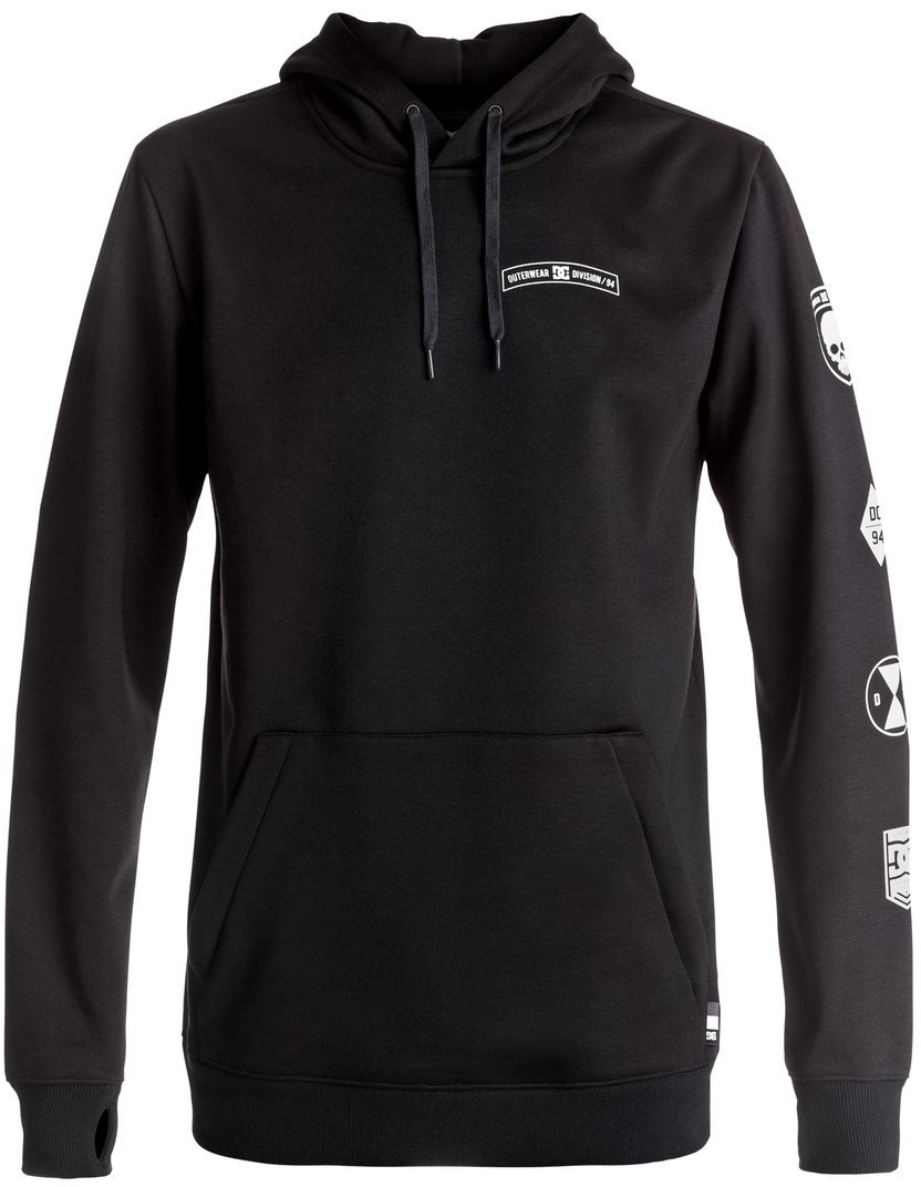 DC Men's Snowstar Po Snow Pullover Sweatshirt, Black Sea, M