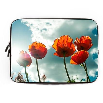 Bolsa de Funda para ordenador portátil bolsa para portátil, fácil de limpiar, rosa flores