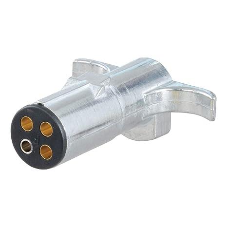 CURT 58060 Trailer-Side 4-Way Round Trailer Wiring Harness Plug, 4-Pin on
