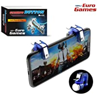 RPM Euro Games PUBG Trigger R11 Mobile Gaming Controller Button triggers for Phone (Blue)